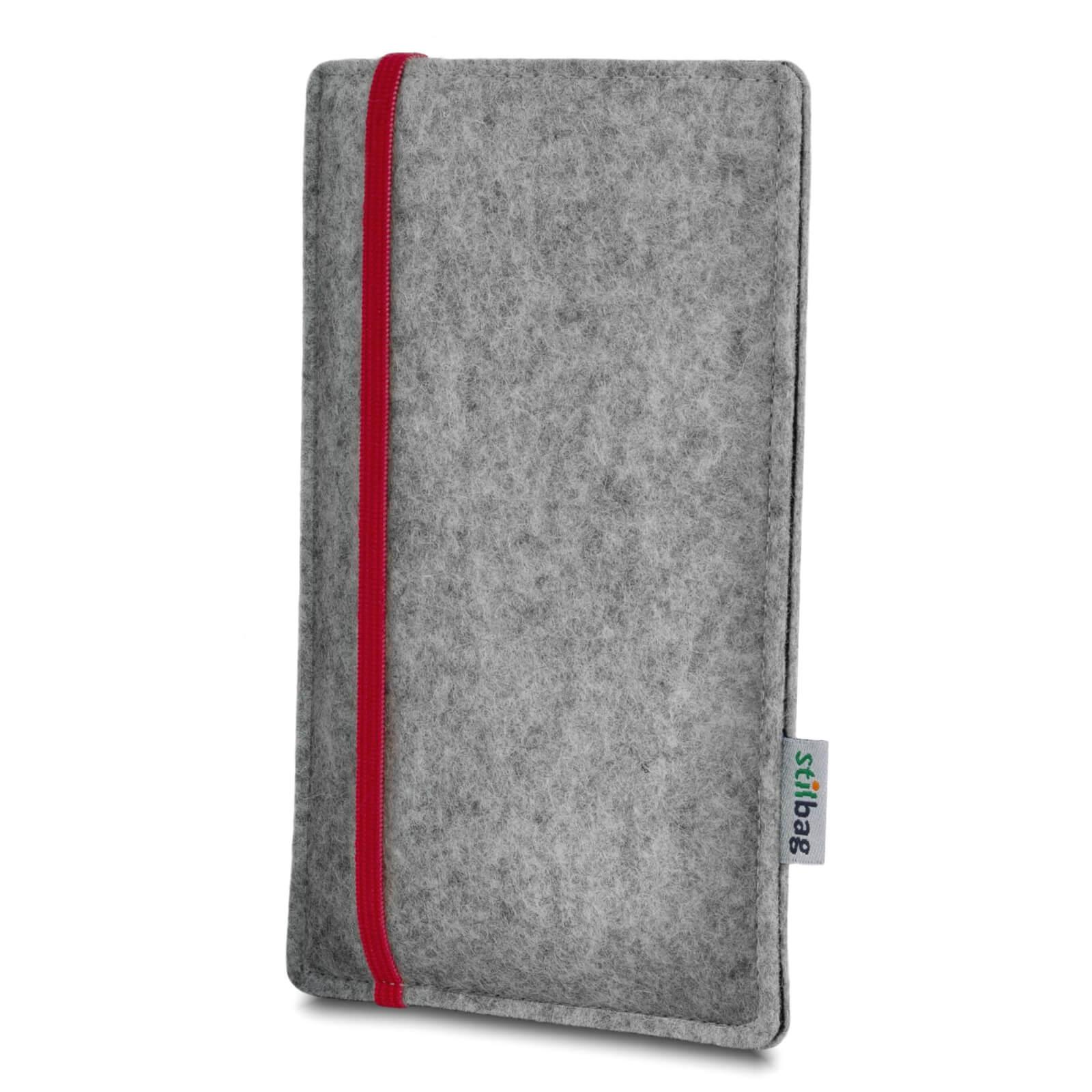 Stilbag-Feutre-Housse-mobile-Pochette-Etui-LEON-HTC-One-M7-gris